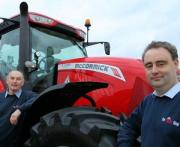 The Tractor Shop managing director Sam Plowright and salesman Marc Shepherd (left)