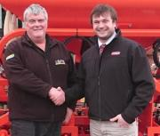 L-R: Maschio Gaspardo Sales Manager, John Hulland with Chris Willner, Managing Director at Severn Farm Machinery