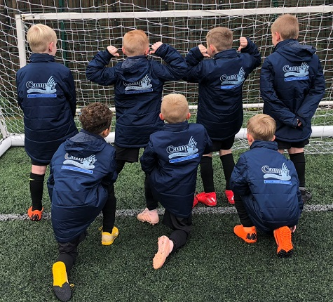 Campey Turf Care Systems are Kidsgrove Athletic Blues U8's new coat sponsor