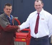 L-R: Andrew Wight, Managing Director A B Wight Engineering, with Colin Grigor, Territory Manager, Maschio Gaspardo