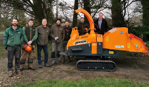 Bill Johnston of Jensen and Stuart Fry (5th from left) of T H White Groundcare with Wiltshire College staff