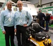 Ryan Walker from Walker Mowers in the US and Jean Christophe Andre Smeets on the Walker Mowers UK stand at SALTEX 2017