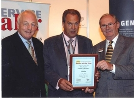 Dealer of the Year Awards 2005 with Chris Biddle and Brian Peachey (Briggs and Stratton)