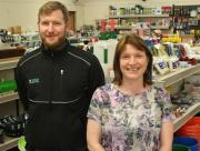 Kathleen and Andrew Dawson in the stores at Colin Dawson Ltd.