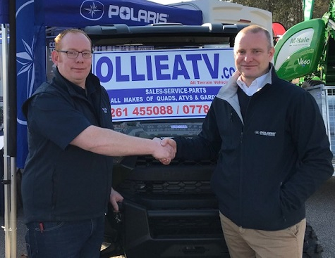 Ollie White of Ollie ATV and Richard Coleby (district sales manager) Polaris Britain Ltd