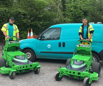 Oldham Council's new Mean Green Mowers