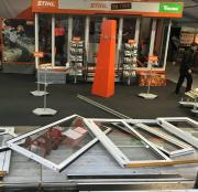 STIHL's stand suffered some damage