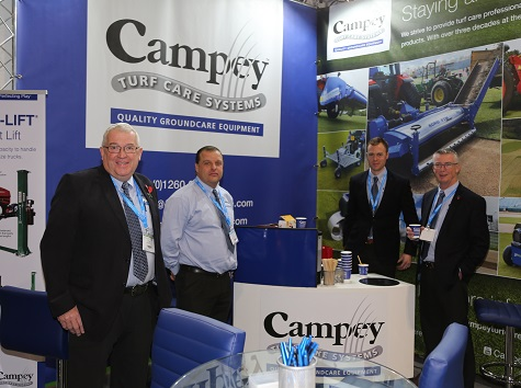 Campey Turf Care Systems' stand