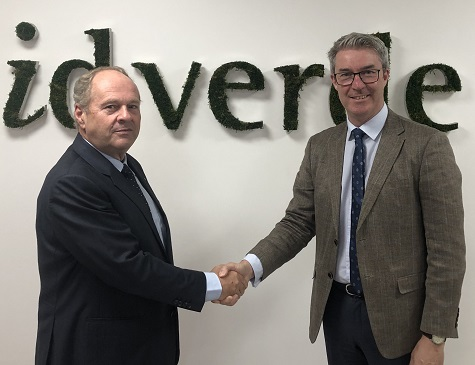 Hervé Lançon, CEO, id verde group, left, with Andy Brown, corporate accounts manager at The Toro Company