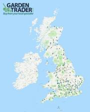 Map of dealerships registered with Garden Trader