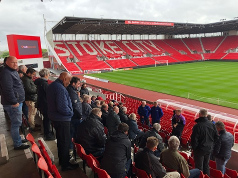 Visit to Stoke City with Campey and members of GAD Groundmen Association of Denmark