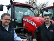 Brothers Mark (left) and John Eaton oversee sales and service activities at David Eaton Tractors, the farm equipment dealership at Fradswell near Stafford now handling McCormick tractors