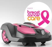 A Pink Husqvarna Automower 450X is being auctioned for Breast Cancer Care