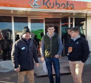 Phill Brooks, Dealer Manager at Kubota UK (left) was supported on the manufacturer's stand by dealers JJ Farm Services and GEO Browns