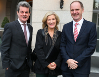 Feargal O'Rourke, Managing Partner, PwC; Catherine Moroney, Head of Business Banking, AIB and Joe Tynan, Head of Tax, PwC