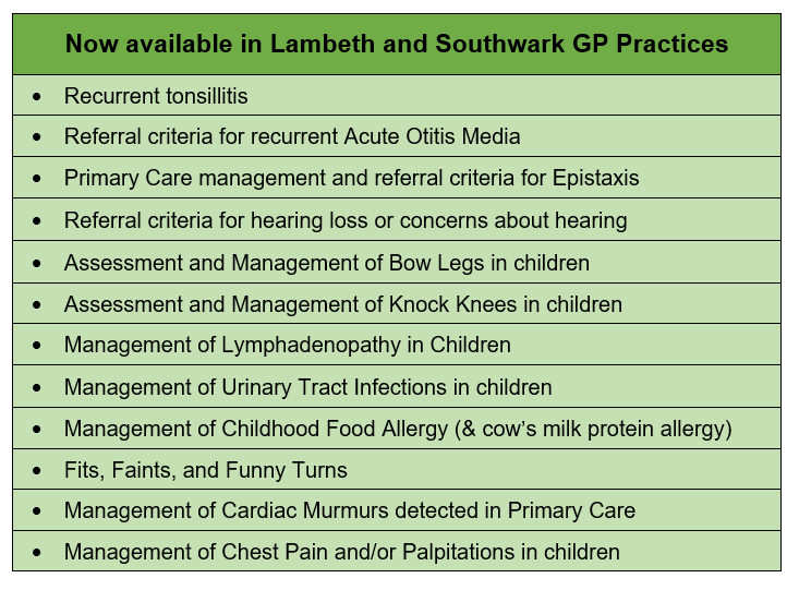 New and revised GP Guidelines on DXS and the CYPHP website