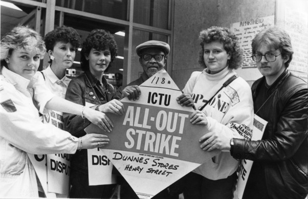 The strike began in July 1984 when Mary Manning was suspended for refusing to sell a grapefruit after her union had backed a boycott of South African goods.