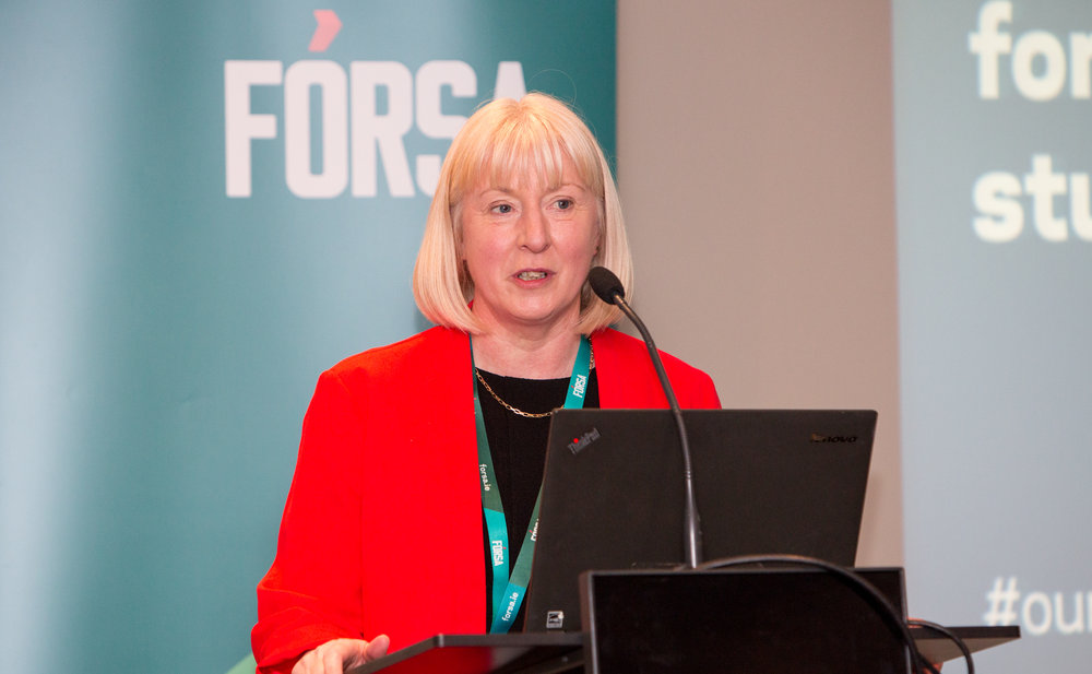 Speaking at last weeks conference Gina said a number of the union's education branches had balloted for industrial action in the last 12 months, mostly because of unequal treatment of groups of education workers.