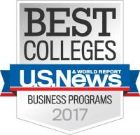 U.S. News Best Colleges award badge