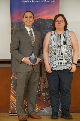 Scott Thomsen and Danielle Fowler for the Information Systems Award.