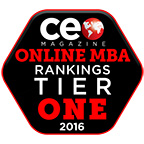 CEO Magazine Tier One Ranking logo for Online MBA