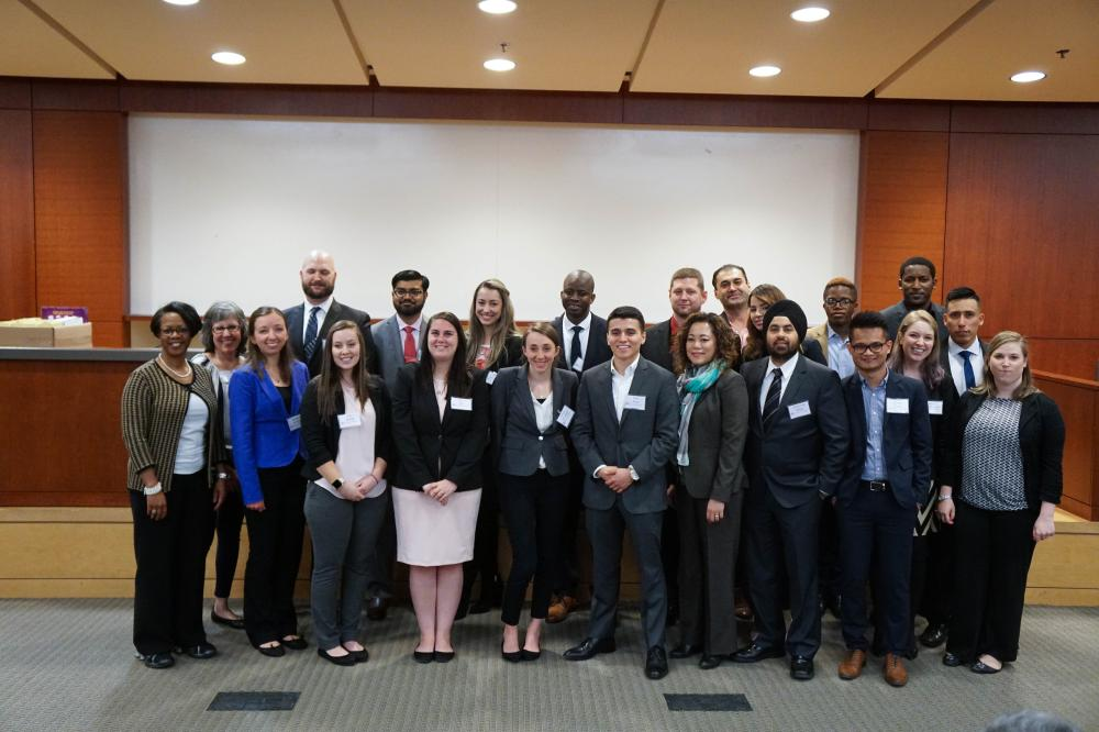 Students inducted into Beta Alpha Psi, the accounting, finance and information systems honor society