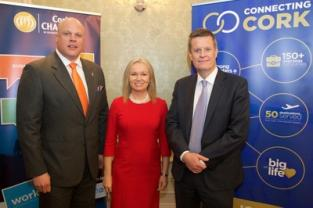 Eoin Motherway, Chair, Cork FS Forum, with speakers Patrice McDonald and Michael Hodson