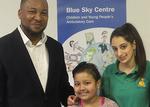 Dr Tony Hemeson, Paediatric Consultant, Amna Parvez and Hayley Giburt, Health Play Specialist